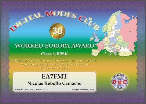DMC EUROPA 30 DIPLOMA
