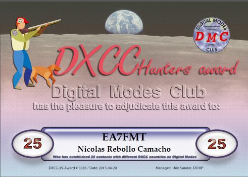 DXCC 25 DMC