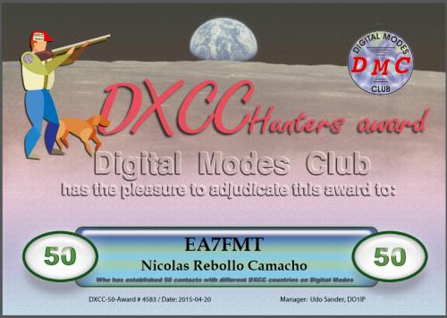 DXCC 50 DMC
