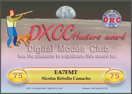 DXCC 75 DMC