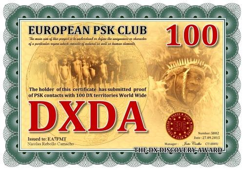EA7FMT-DXDA-100 DIPLOMA