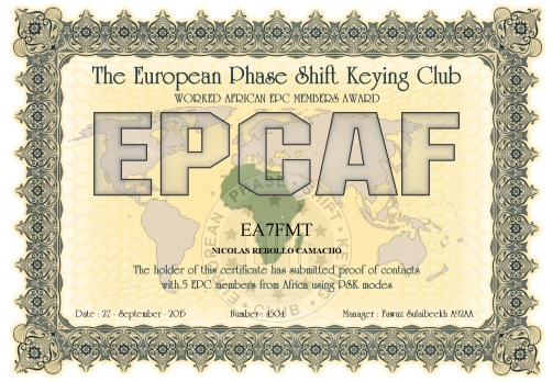 EA7FMT-EPCMA-EPCAF DIPLOMA
