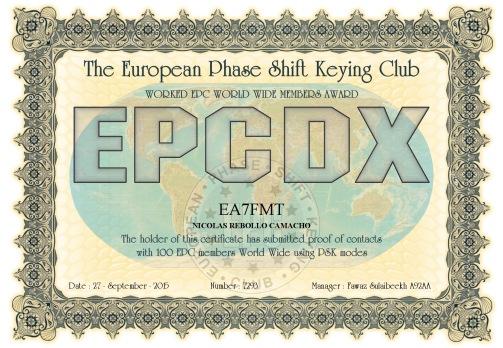 EA7FMT-EPCMA-EPCDX DIPLOMA