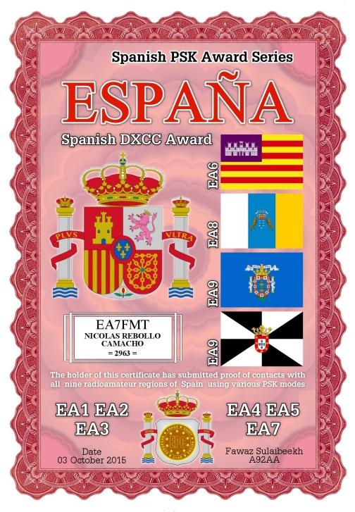 EA7FMT-ESPANA-ESPANA DIPLOMA