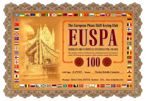 EA7FMT-EUSPA-100 DIPLOMA