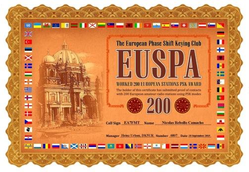 EA7FMT-EUSPA-200 DIPLOMA