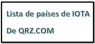 LISTA DE PAISES DE IOTA DE QRZ.COM