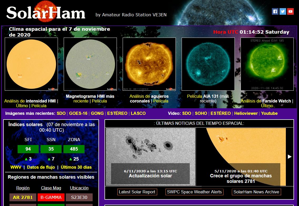 ACTUALIZACIÓN SOLAR CLIMA ESPECIAL ULTIMA HORA MANCHAS SOLARES