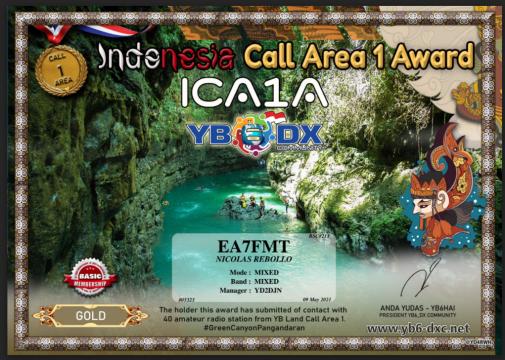INDONESIA CALL AREA1 ICA1A Award